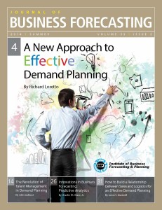 A New Approach to Effective Demand Planning – Journal of Business Forecasting Summer 2014
