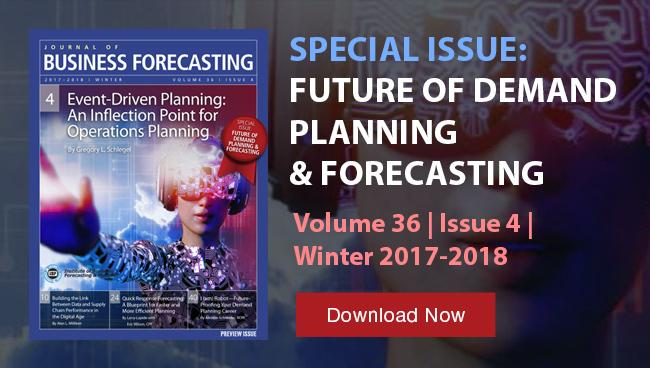Image of latest issue of The Journal of Business Forecasting and Planning