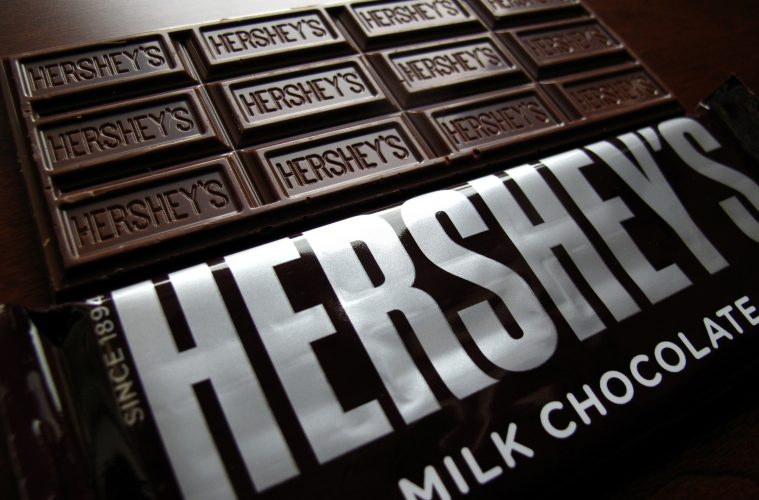 Image of Hershey's chocolate bar.