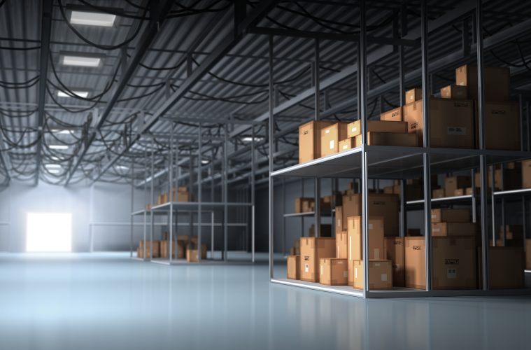 Image of warehouse. Inventory reduction.