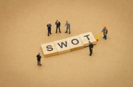 Image of letters spelling SWOT